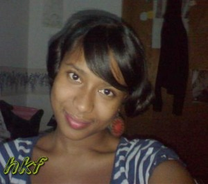 2007; I pin curl my hair to cover up the breakage