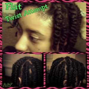 I used my Shea/beeswax butter mix for setting. then applied vitamin E oil to my scalp and twist.