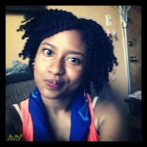 Flat twist out styled, with JASON vitamin E oil.